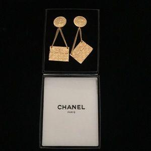 Chanel Earrings Handbag Fashion Costume Gold